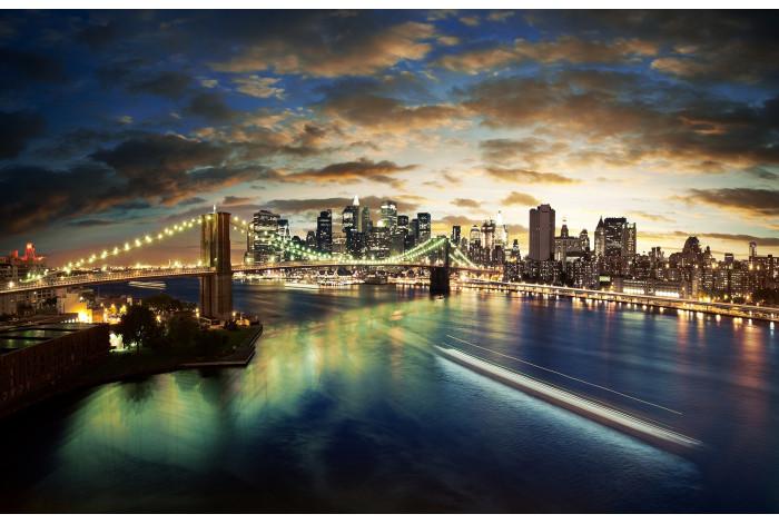 Модульная картина Мост Мегаполис