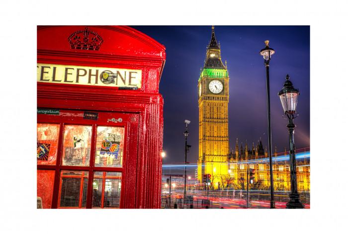 Фотокартина Телефонная будка Лондон